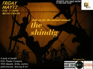 The Shindig - May 12 - 8-11pm - tickets online or by phone